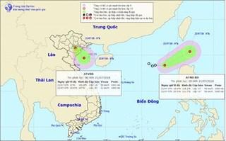 Áp thấp nhiệt đới 'nối đuôi nhau' xuất hiện trên biển Đông