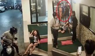 Phẫn nộ cảnh cô gái bị đánh chảy máu trong hầm gửi xe, 3 thanh niên khác chỉ đứng nhìn