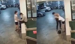 Hé lộ diễn biến trước khi cô gái bị đánh chảy máu dưới hầm gửi xe, 3 thanh niên chỉ đứng xem