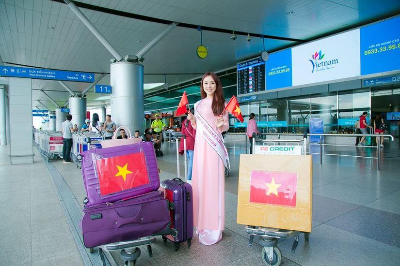 Miko Lan Trinh duyên dáng trong tà áo dài lên đường sang Đài Loan thi hoa hậu5