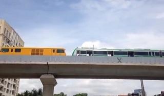 Clip: Tàu điện chạy thử trên tuyến đường sắt Cát Linh - Hà Đông