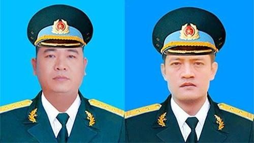Bộ Quốc phòng truy thăng quân hàm cho 2 phi công hi sinh