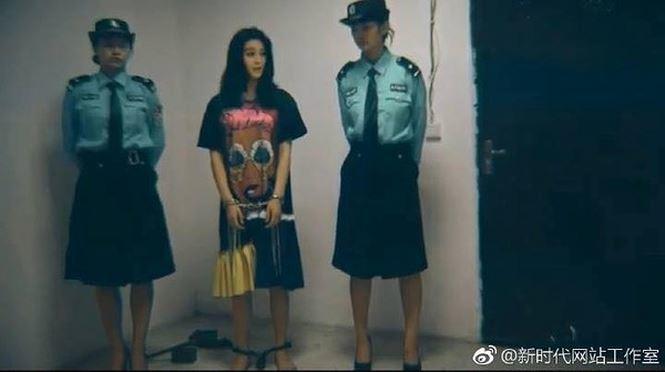 Ảnh Phạm Băng Băng bị bắt và đeo còng là photoshop