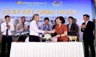 Vietnam Airlines và Vinamilk hợp tác cùng phát triển thương hiệu vươn tầm quốc tế
