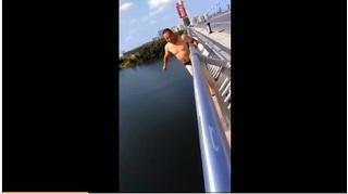Cái kết 'đắng' của chàng trai nhảy cầu 25m để quay clip 'sống ảo'