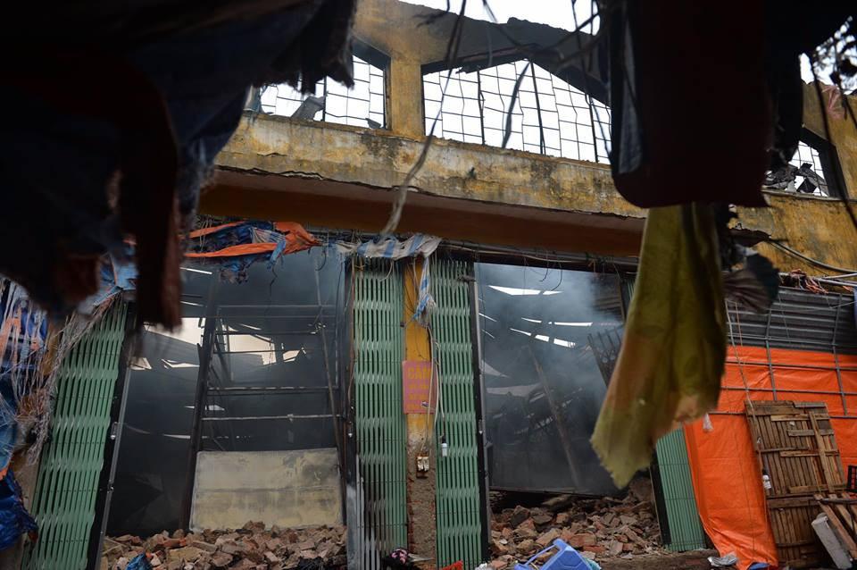 Chợ Sóc Sơn bị cháy thiệt hại khoảng 47 tỷ đồng