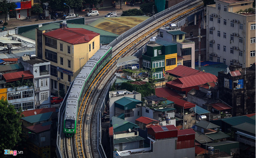 Cận cảnh tàu đường sắt trên cao lăn bánh từ Cát Linh tới Yên Nghĩa