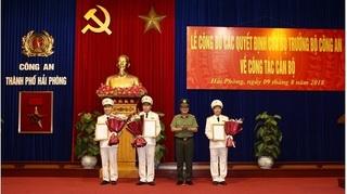 Bộ Công an quyết định bổ nhiệm 3 Phó Giám đốc Công an TP. Hải Phòng