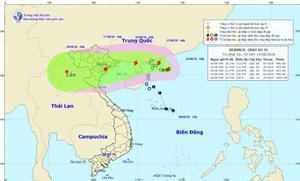 Thời tiết 14/8: Bão số 4 mạnh thêm, Hà Nội có mưa rào và dông