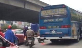 Nghi vấn nhân viên hãng xe khách Đoàn Xuân hành xử côn đồ, đe dọa xe 'đối thủ'