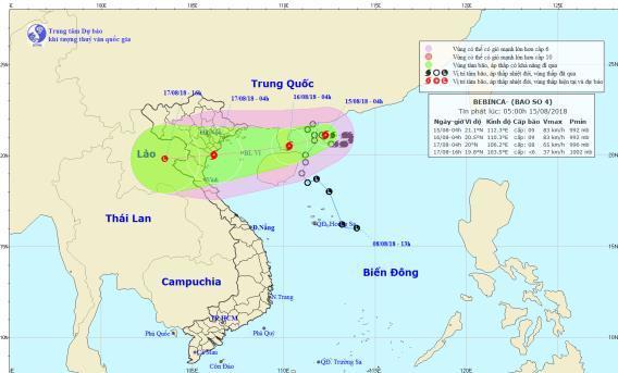 Thời tiết 15/8: Diễn biến mới nhất về bão số 4, Hà Nội có mưa dông