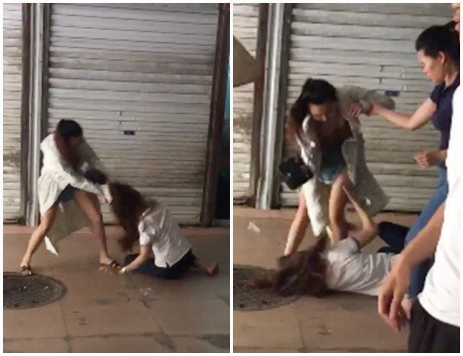 Cô nàng đánh ghen vợ cũ của chồng ở Quảng Ninh bị đánh nhập viện2