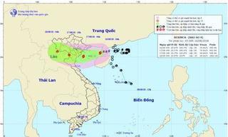 Thời tiết 16/8: Bão số 4 tiến vào vịnh Bắc Bộ, Hà Nội mưa to đến rất to
