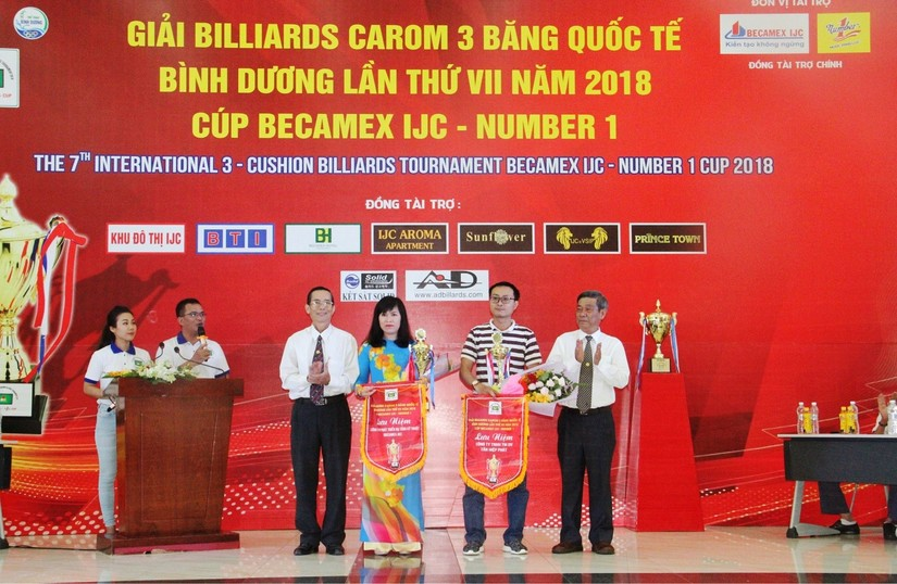 Khai mạc giải Billiards Carom 3 băng quốc tế Bình Dương tranh cúp Becamex IJC - Number1