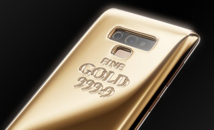 Ngắm Galaxy Note 9 dát 1kg vàng nguyên chất