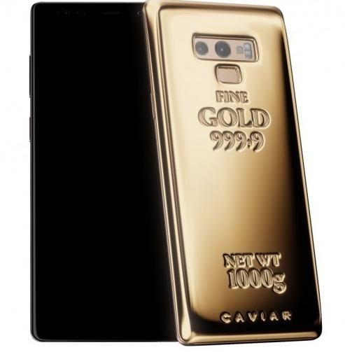 Ngắm Galaxy Note 9 dát 1kg vàng nguyên chất2