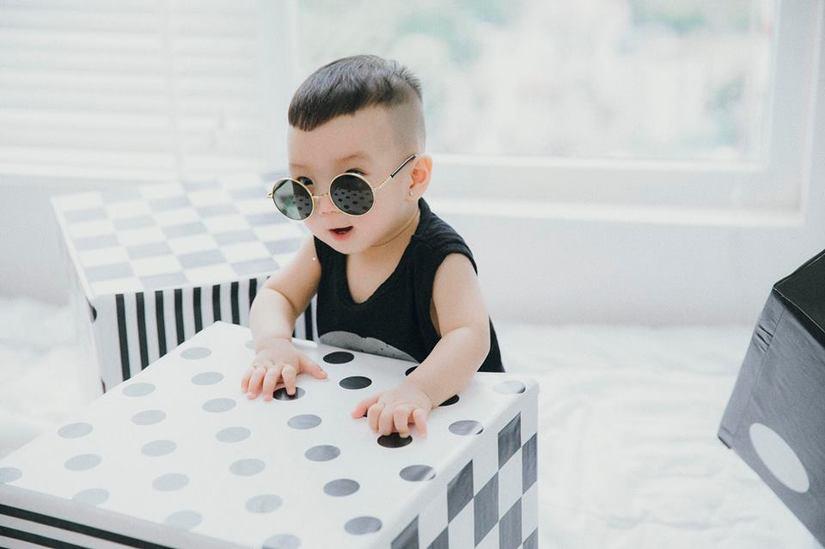 Hot girl dân tộc Thu Hương tung bộ ảnh cực đáng yêu của con trai9