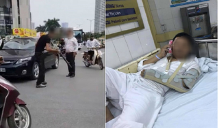 Va chạm giao thông, tài xế ô tô bị thanh niên đi xe máy dùng điếu cày đánh nhập viện