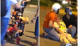 Clip: Chiến sĩ CSGT bị đâm và kéo lê hơn chục mét trên đường