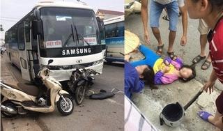 Xe chở công nhân Samsung gây tai nạn liên hoàn, 4 người bị thương