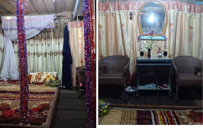 Phòng cưới của cô dâu Thu Sao và chú rể Hoa Cương