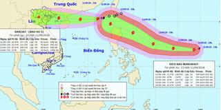 Tin bão mới nhất: Bão số 5 sẽ hướng vào Quảng Ninh, Nam Định