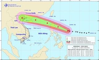 2 kịch bản hướng đi của siêu bão Mangkhut vào vịnh Bắc Bộ
