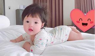 Cận cảnh gương mặt cực đáng yêu của con gái đầu lòng Hoa hậu Đặng Thu Thảo