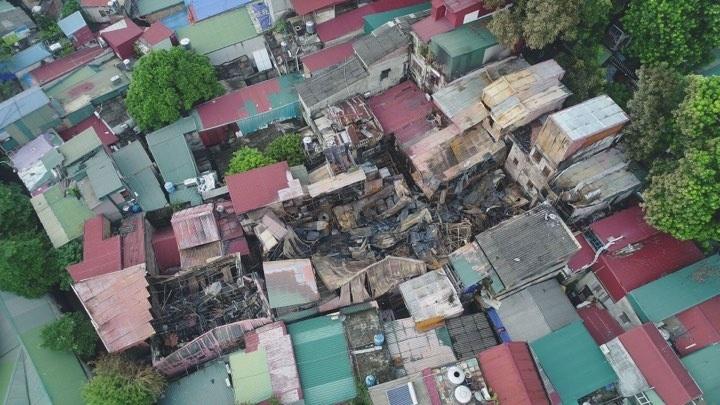 Ông Hiệp được công an mời lên làm việc sau khi tìm thấy 2 thi thể ở khu nhà trọ bị cháy