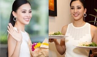 Trở về nhà sau đăng quang, Hoa hậu Tiểu Vy gây ấn tượng nhờ sự thân thiện