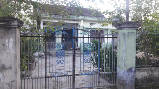 Ngôi nhà nơi phát hiện thi thể ông Tùy