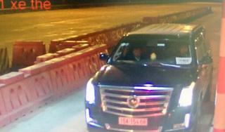 'Xế khủng' Cadillac đeo biển 'hộ đê' trốn phí trên cao tốc Hà Nội-Hải Phòng