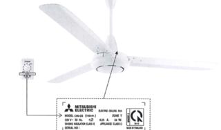 Cảnh báo quạt trần Mitsubishi Electric rung lắc, đe dọa an toàn người dùng