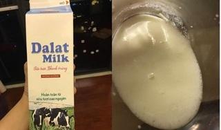 Bà bầu 'tố' uống phải sữa DalatMilk nổi bọt, bốc mùi chua khó chịu