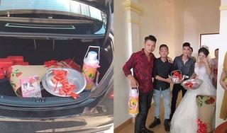 Món quà cưới lấy ra từ ô tô Mercedes khiến cô dâu hết cười lại... rớm nước mắt