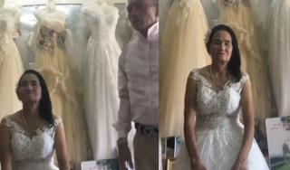 Sự thật clip cụ bà 70 tuổi mặc váy cưới duyên dáng ở Nghệ An