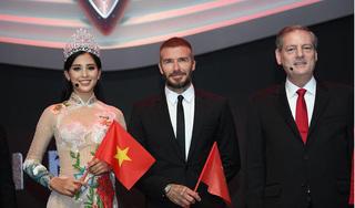 Hoa hậu Tiểu Vy duyên dáng với tà áo dài trong lễ ra mắt xe VinFAST tại Paris