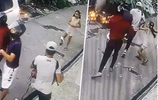 Con gái 8 tuổi túm chặt 4 tên cướp có súng để bảo vệ bố