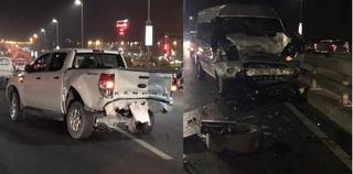 Dừng thay lốp trên cầu Nhật Tân, chủ xe bị ô tô khách tông tử vong