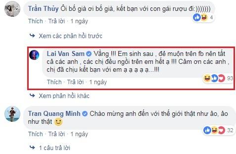Nhà báo Lại Văn Sâm bình luận dí dỏm khi chính thức chơi Facebook 2