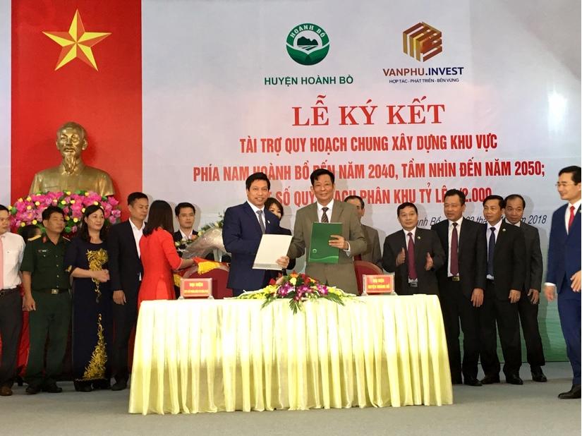 Công ty Văn Phú-Invest tài trợ quy hoạch chung xây dựng khu vực phía Nam huyện Hoành Bồ (Quảng Ninh)