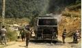Xe tải 'vô chủ', bốc cháy ngùn ngụt trên quốc lộ 37
