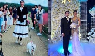 Mặc đám cưới Lan Khuê và John Tuấn Nguyễn, 'tình cũ' Thúy Vân dắt chó đi dạo tại Hàn Quốc