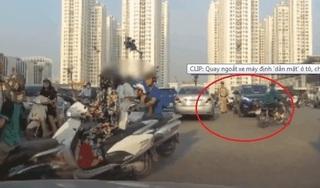 CLIP: Va chạm trên đường, xe máy quay lại dằn mặt ô tô và cái kết bất ngờ