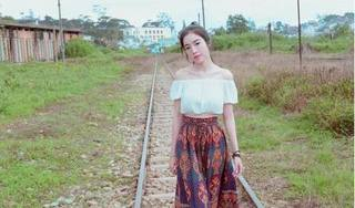 Không sợ nguy hiểm, Elly Trần khoe ảnh xinh đẹp bên đường tàu