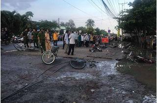 Điều bất thường trong vụ điện giật chết học sinh trước cổng trường