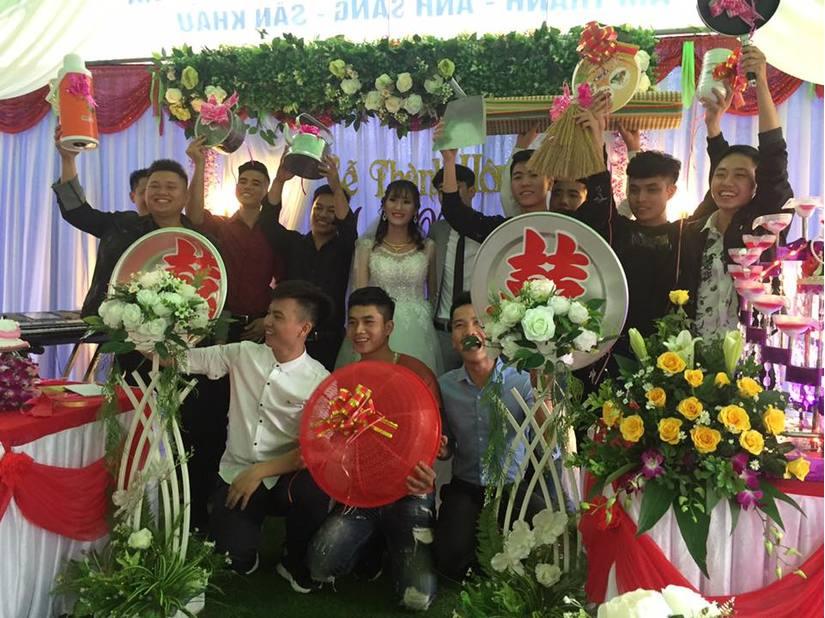 CLIP đám cưới Bắc Giang độc nhất vô nhị: Quà toàn chiếu, mâm, chậu, lồng bàn