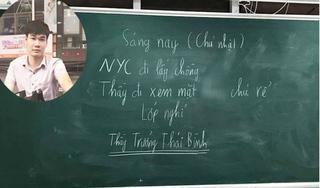 Thầy giáo Thái Bình cho học sinh nghỉ học vì 'người yêu cũ đi lấy chồng'