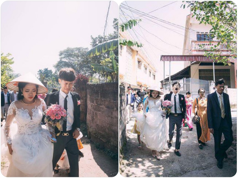 Nhăn nhó trong ngày cưới, nam thanh niên bị 'vợ đánh thâm mặt'