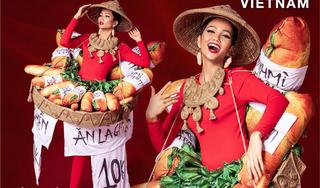 Sốc với trang phục dân tộc của Hoa hậu H'Hen Niê: Nào bánh mì, hổ đến hoa đăng